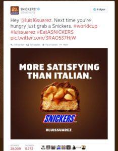 snickers luis suarez